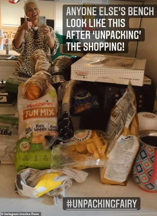 If it works!Earlier, Jessica showed off her messy kitchen counter, piled high with the ingredients for her disastrous dinner