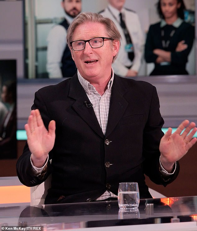 Interesting: Adrian Dunbar, who plays Ted Hastings, revealed that there's already been 'a very big clue' about what happens to Kate in Line of Duty while appearing on GMB on Monday