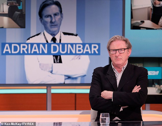 Hints: While appearing as the first guest back in the Good Morning Britain studio, the Ted Hastings actor, 62, pointed fans away from the misspelt 'definately' as they searched for clues