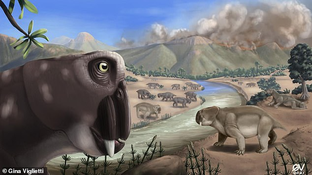 The worst mass extinction event in the history of the Earth, 252 million years ago, took ten times longer on land than it did in the water, according to a new study. An illustration showing Lystrosaurus during the end-Permian mass extinction