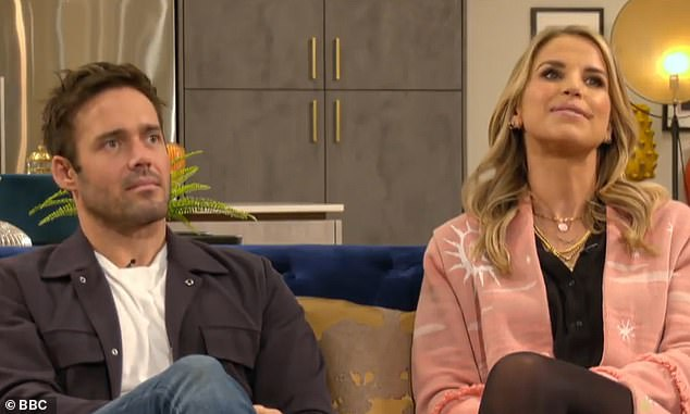 Embarrassing: The former Made In Chelsea star sparked outrage from Will after asking who was 'the least gay person' during an appearance on This Is My House alongside his wife Vogue Williams
