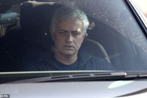 Downbeat Jose Mourinho left Tottenham's training base for the last time