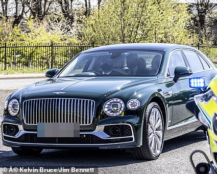 Prince Andrew left Prince Philip's funeral in a brand new £220,000 racer-green Bentley