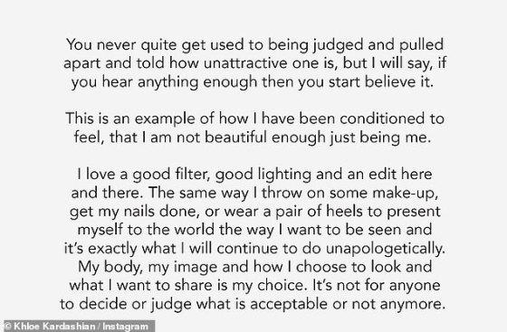 'Anda tidak pernah terbiasa dihakimi': Ini adalah tanggapan Khloe, sebagian, atas kontroversi foto yang belum diedit