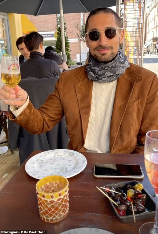 The TV star also spoke about the buzz over returning to normality after the coronavirus pandemic (pictured during their first lunch date this year)
