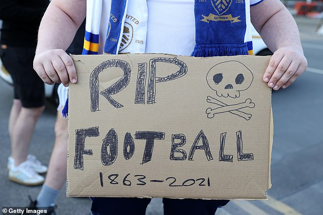 A supporter at the 1-1 draw between Leeds and Liverpool on Monday night voiced his criticism
