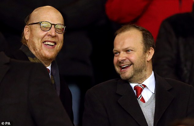 Ceferin strongly criticised Manchester United executive vice chairman Ed Woodward (right)