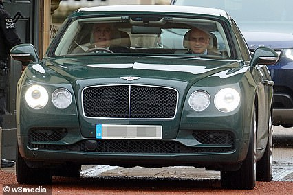 Previous Bentley: The Duke of York driving a Bentley Continental GT - the old Bentley he replaced