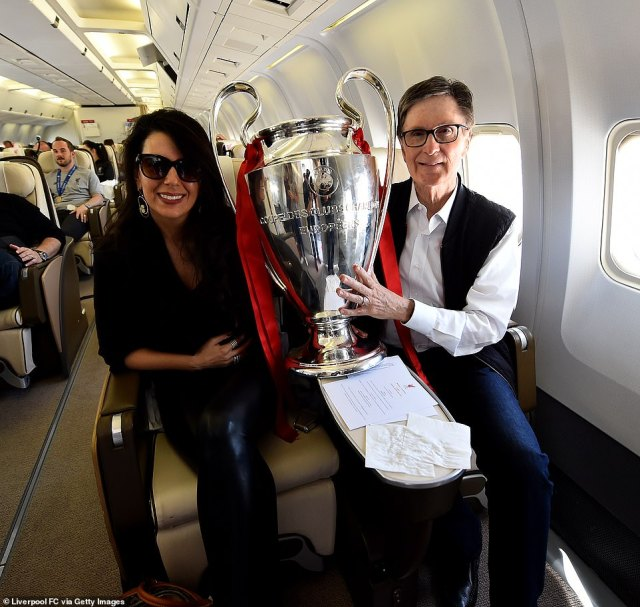 Liverpool owner John Henry, with his wife Linda Pizzuti Henry, pictured celebrating the club's 2019 Champions League win