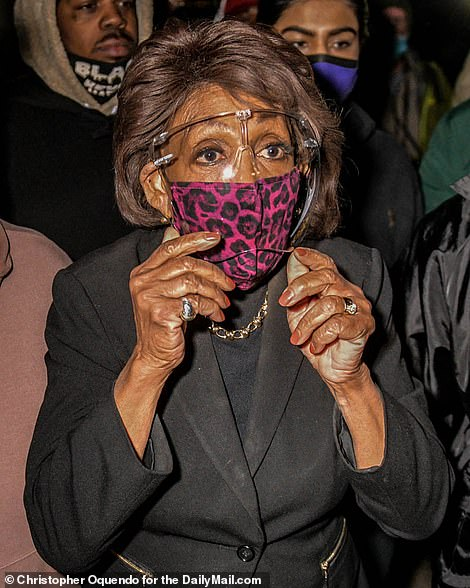 Chauvin's defense called for a mistrial after the jury retired on April 19, citing comments California Congresswoman Maxine Waters (pictured) made about the case during a protest on Saturday