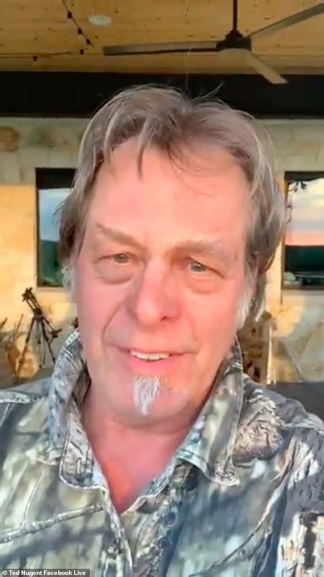 Singer Ted Nugent has revealed he has tested positive for COVID-19, just months after he called the virus a 'leftist scam' and 'not a real pandemic'