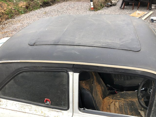 The car's black hardtop roof is also in poor condition and could do with being spruced up by a new owner. The car is being sold in Dorset in July