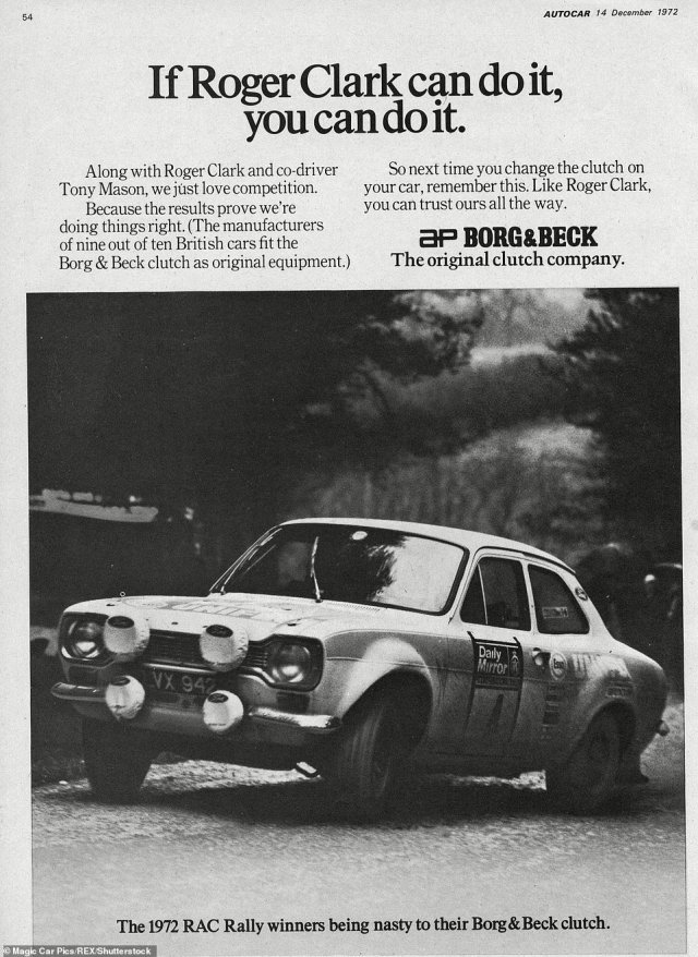 Rallying was used by car companies and the manufacturers of components to showcase the durability of their products