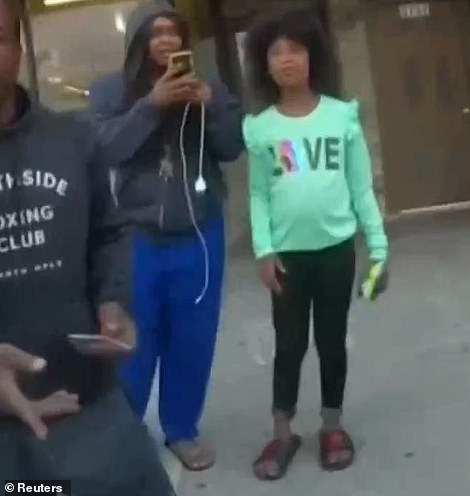 Jedeah Reynolds was nine when she watched Floyd die in front of the Cup Foods store. She had gone with her cousin to get snacks. Her cousin filmed the killing and it was one of the videos that went viral and led to Chauvin's arrest. Jedeah later testified about it. On Wednesday said she felt 'kinda proud' that she had taken part