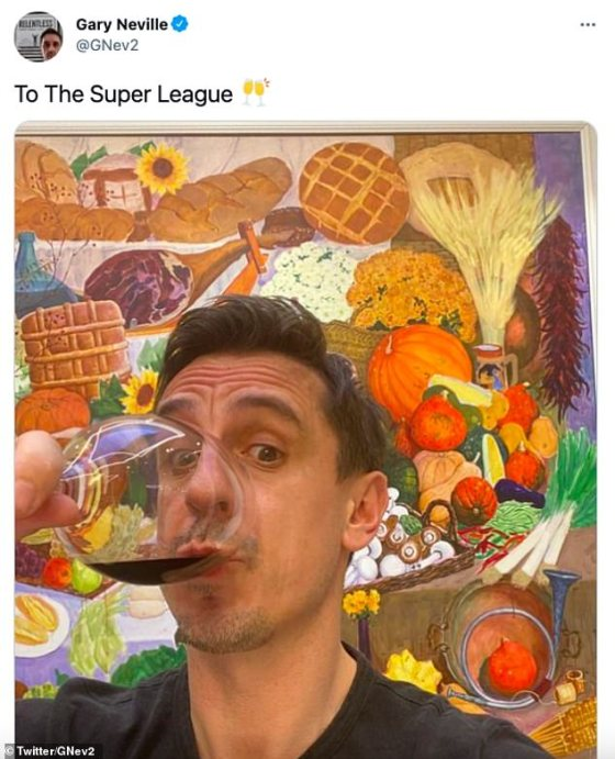 It happened after a similar post on social media by his classmate from '92, Gary Neville