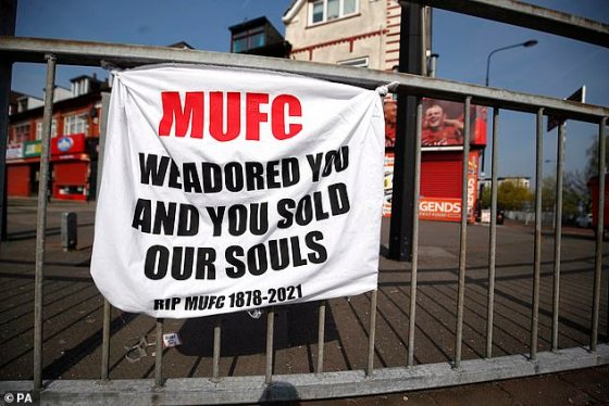 Manchester United fans were among those protesting against the Super League this week