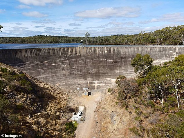 Henry Shepherdson and Kobi plunged to their deaths from the 'Whispering Wall' dam (pictured)