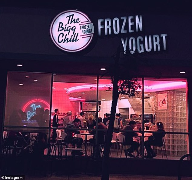 Bizarre: Lovato's statement came a month after their Karen-like diet food war against LA frozen yogurt shop The Bigg Chill, which 'triggered' their eating disorder