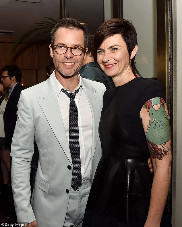 Shock breakup: Guy and Carice started dating a few months after they split from Guy's ex-wife Kate Mestitz (pictured) in 2015. In 2018, Guy revealed in Andrew Denton's interview that it was Kate who had decided to end their 18-year marriage when the couple broke up