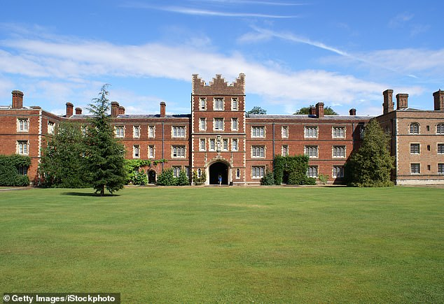 Jesus College (pictured) has insisted that students must take all the posters and flags down by the end of today