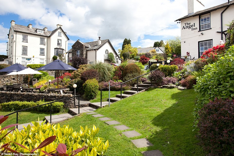 The Angel Inn in Bowness-in-Windermerehas 'sweeping views above the jolly bustle of the village below'