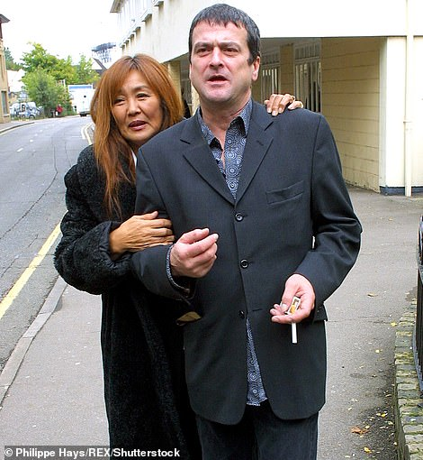 The former Bay City Rollers frontman Les McKeown, pictured with his wife Keiko