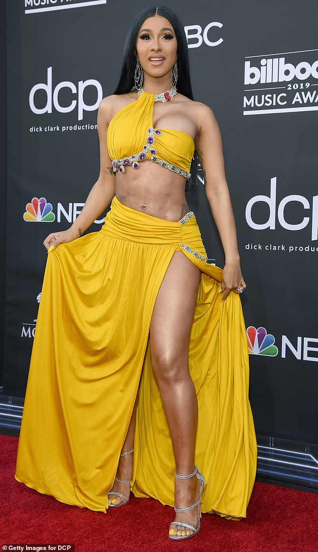 Fashion Device: The rapper's glamorous look and unique style have made her a perennial red carpet favorite.  Seen in 2019