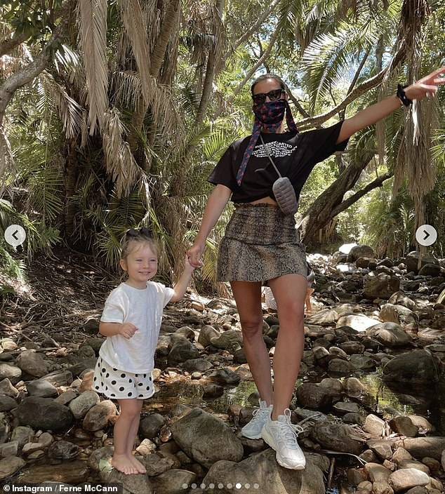 Mom and daughter: Ferne and Sunday also enjoyed a nature walk on one of their trips