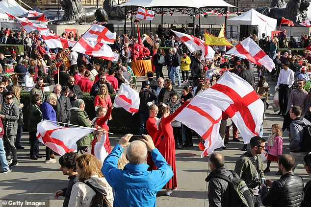 St. George's Day celebrations in London's Trafalgar Square.You could be forgiven for not knowing when St. George's Day is, writes RICHARD LITTLEJOHN. Surveys regularly show that fewer than half the English can name the date we're supposed to celebrate our patron saint