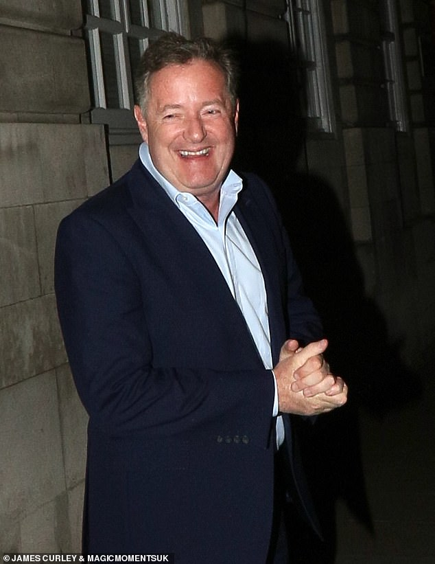 Jovial: Piers seemed to be in good spirits during the outing as rumours swirl about who could replace him on GMB