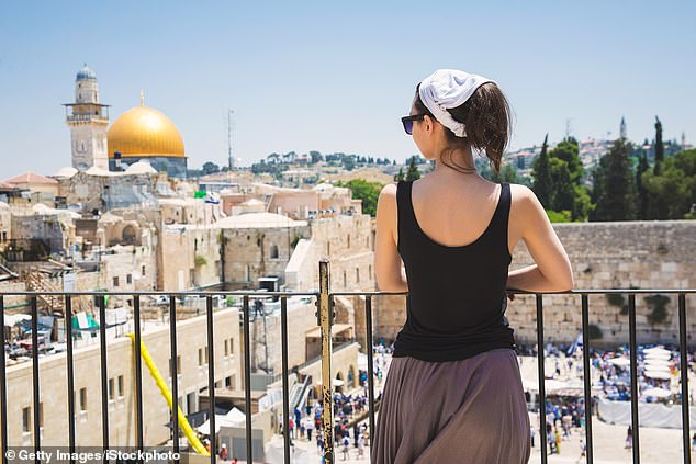 Israel (pictured is the Wailing Wall in Jerusalem) and some Caribbean islands are among the countries most likely to be named on the initial 'green list'