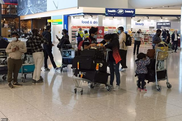 Indian families speak after they land at Heathrow on the last scheduled flight into the the UK last night before India joined the 'red list'