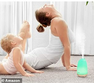 The diffuser comes with eight soothing mood changing colours, so it could act as a relaxing nightlight
