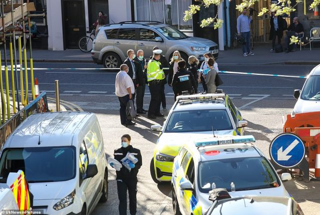 Officers were called to an M&S car park on Church Street in Walton-on-Thames at 2.15pm yesterday afternoon after 999 was called because of an 'altercation between a group of men'