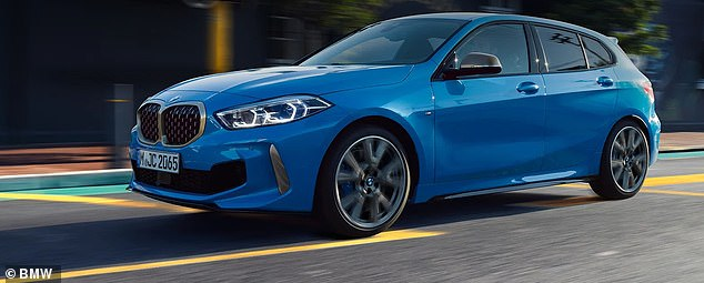 Pricey: The BMW Series 1 was named the car with the highest insurance costs for the first year