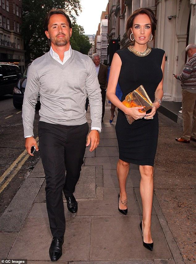 Socialite Tamara Ecclestone with her husband Jay Rutland at Nobu Berkeley in London