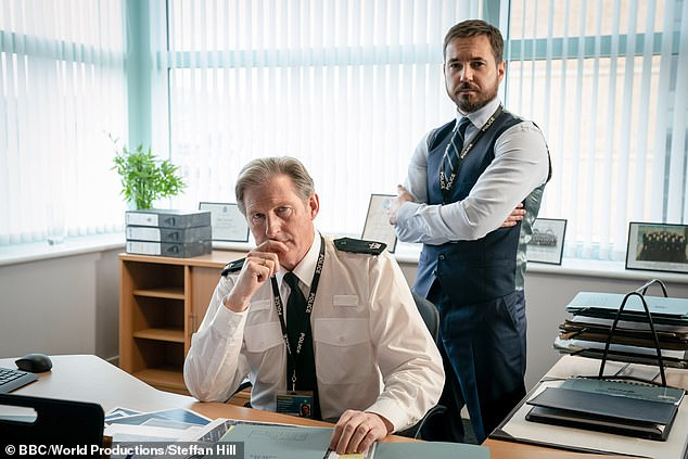 The day job: Adrian is best known for playing Ted Hastings in BBC police drama Line Of Duty