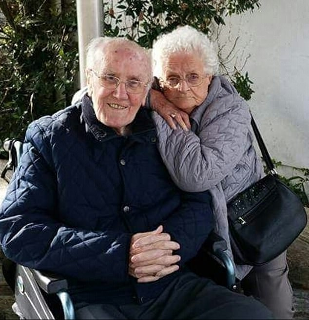 Retired NHS hospital worker Joan Turner would likely have had hundreds of friends and relatives at her funeral. Pictured, Mrs Turner with her husband Stan