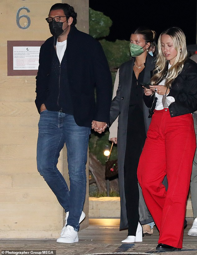 Smitten:Sofia Richie looked loved-up as she stepped out with new boyfriend Elliot Grainge during dinner at celebrity hotspot Nobu Malibu in California on Friday