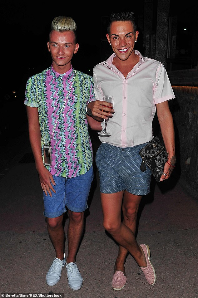 Exes:Rhys dated TOWIE star Harry in 2013 with the former couple regularly appearing at events together before Harry dated Bobby Norris (Harry and Bobby pictured in 2014)