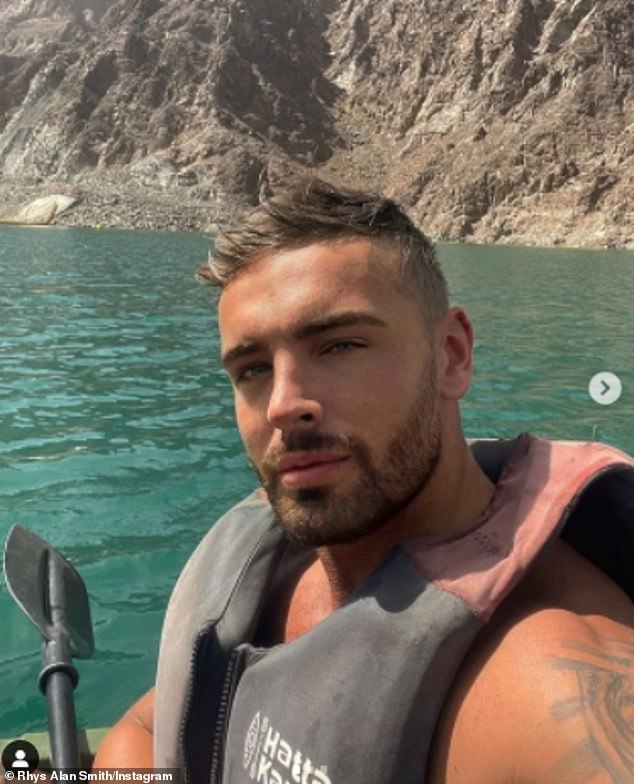 Sad: Earlier this year, he had spent time in Dubai where he had shared several pictures of himself enjoying various activities such as kayaking with friends (pictured in March)