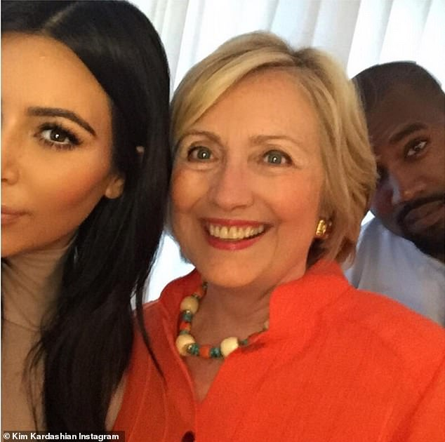 'On the fence': Kim had backed President Obama, and vowed to vote for Hillary Clinton in 2016, but a statement that was attributed to Kim in conversation with Wonderland Magazine made it known she was 'on the fence'