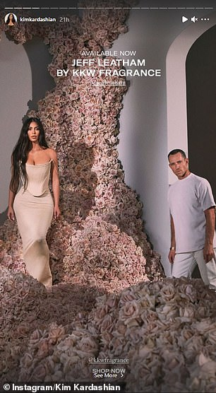 Kim posted several images promoting her new fragrance line