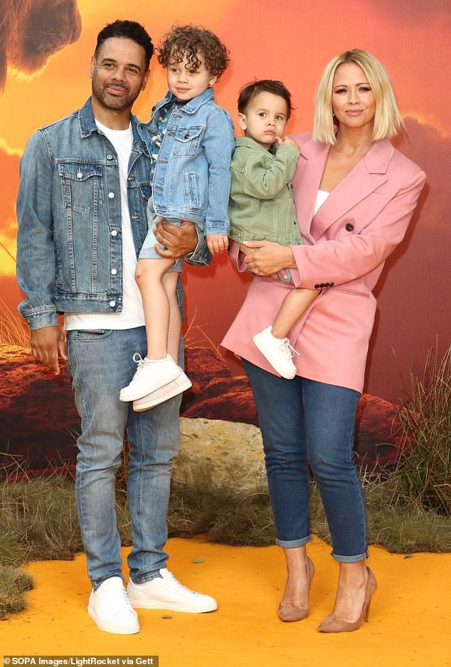 Outnumbered:The singer is already a mum to sons Bobby, six, and Cole, four, whom she shares with husband Justin, and joked that she'll now be 'so outnumbered' with all the boys in her life (pictured in 2019)