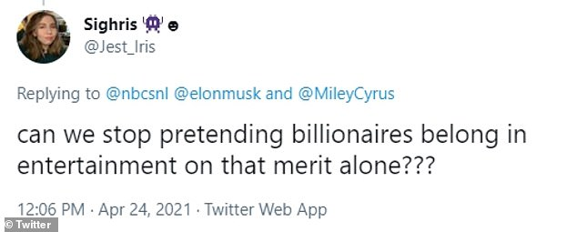 Billionaire beef: Other users took fire at giving the billionaire exposure