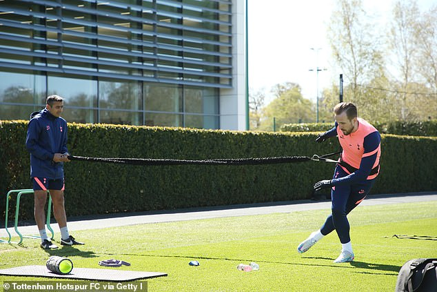Kane took part in some running exercises on Friday in his first test back on his ankle in training