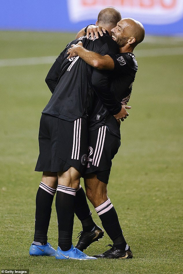 It was brothers Gonzalo Higuain (left) and Federico Higuain (right) who provided the goals