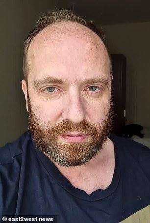 Vitaliy Grechin pictured in custody in Dubai