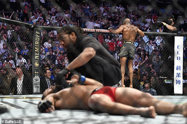 Kamaru Usman knocked out Masvidal in the second round at UFC 261 last night