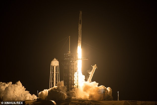 The Crew Dragon spacecraft carrying four astronauts from three countries launches from NASA's Kennedy Space Center in Cape Canaveral Friday.Musk has already said he hopes to get humans on Mars by 2026 ¿ seven years before NASA aims to land astronauts there